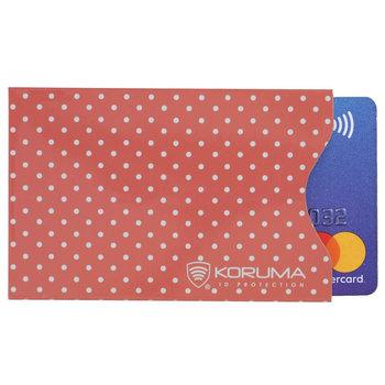 Koruma, Etui na karty RFID, różowe, 5,7x8,8 cm-Koruma
