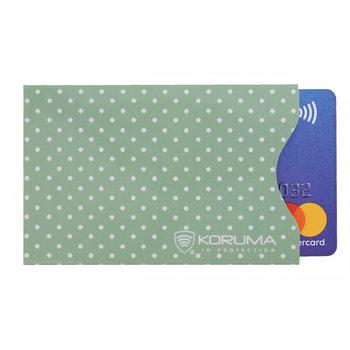 Koruma, Etui na karty RFID, zielone, 5,7x8,8 cm-Koruma