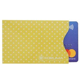 Koruma, Etui na karty RFID, żólte, 5,7x8,8 cm-Koruma
