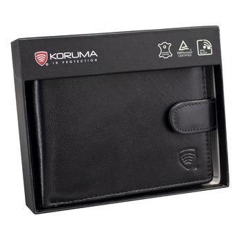 Koruma, Portfel męski skórzany RFID, czarny-Koruma