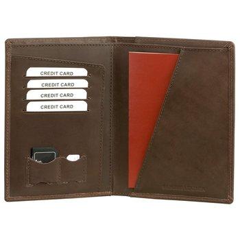 Koruma, Portfel na dokumenty RFID, brązowy, 11x15 cm-Koruma