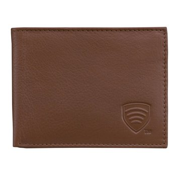 Koruma, Portfel skórzany RFID, brązowy, 8,1x11,5 cm-Koruma