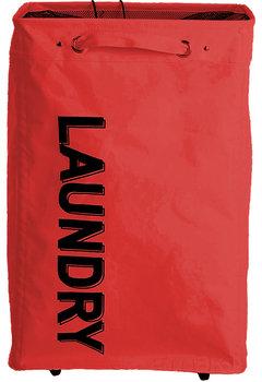 Kosz na pranie Laundry, EMAKO, czerwony, 80 l-Emako