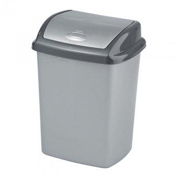 Kosz na śmieci CURVER Dominik, srebrno-grafitowy, 25 l -Curver