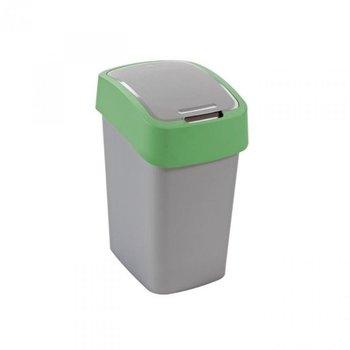Kosz na śmieci CURVER Flip Bin , srebrno-zielony, 10 l-Curver