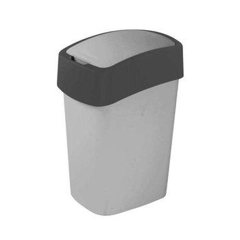 Kosz na śmieci CURVER Flip Bin, szaro-grafitowy, 10 l -Curver