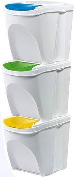 Kosz na śmieci Prosperplast SORTIBOX IKWB20S3-S449 (kolor biały)-PROSPERPLAST