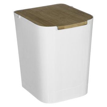 Kosz na śmieci SECRET DE GOUMET, biały, 18,3x22,4x24,4 cm-Secret de Gourmet