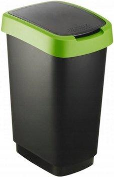 Kosz-pojemnik do segragacji śmieci ROTHO Twist, czarny/zielony, 25 l-Rotho