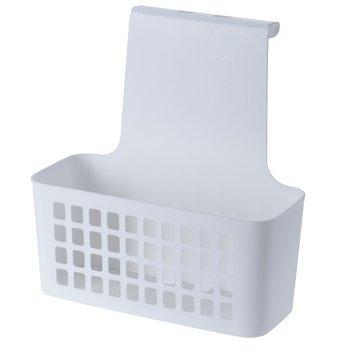 Kosz z półką zawieszany na szafkę Excellent Houseware, biały, 10x24x25 cm-Excellent Houseware