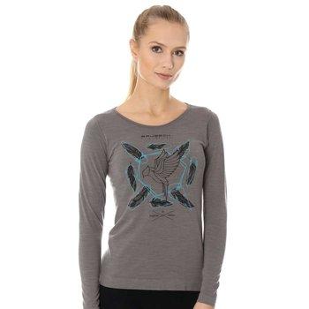 Koszulka damska z długim rękawem z wełny merino Brubeck Outdoor Wool Pro - M-BRUBECK