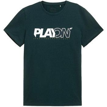 Koszulka męska 4F ciemna zieleń H4L21 TSM013 40S-4F