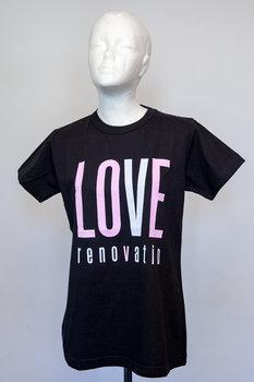 Koszulka Męska Renovatio Czarna Napis Różowy/Biały XL-Bartosiewicz Edyta