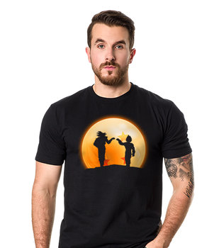 Koszulkowo, Koszulka męska, Goku Vegeta Dragon Ball, czarna, rozmiar 2XL-Koszulkowo