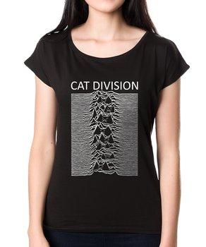 Koszulkowo, T-shirt damski, Cat Division, czarny, rozmiar XL-Koszulkowo