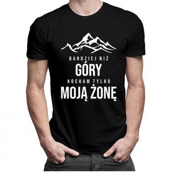 Koszulkowy, Koszulka męska, Bardziej niż góry kocham tylko moją żonę, rozmiar XXL-Koszulkowy