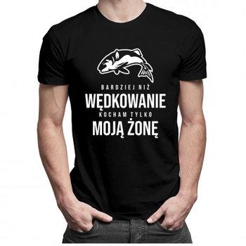 Koszulkowy, Koszulka męska, Bardziej niż wędkowanie kocham tylko moją żonę, rozmiar XXL-Koszulkowy