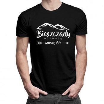 Koszulkowy, Koszulka męska, Bieszczady wzywają, muszę iść, rozmiar M-Koszulkowy