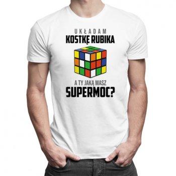 Koszulkowy, Koszulka męska, Układam kostkę rubika, a Ty jaką masz supermoc?, rozmiar L-Koszulkowy