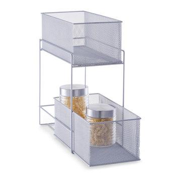 Koszyk kuchenny na żywność ZELLER, srebrny, 42x18x35 cm-Zeller