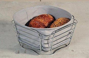 Koszyk na pieczywo KESPER, szary, 9,5x20x20 cm-Kesper