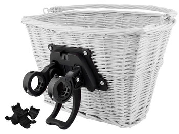 Koszyk wiklinowy na rower ISO TRADE, biały-Iso Trade