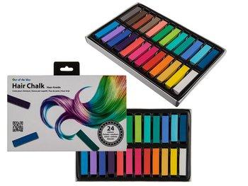 Kreda do kolorowania włosów - 24 kolory-Out Of The Blue