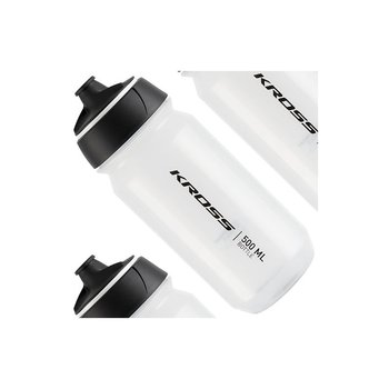 Kross, Bidon, ENVIROMENT FRIENDLY BIO biodegradowalny, biały, 500ml-Kross