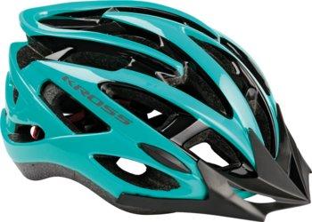 Kross, Kask rowerowy, LAKI + daszek, niebieski, rozmiar L-Kross