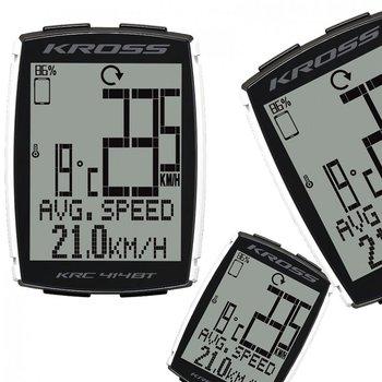 Kross, Licznik rowerowy, KRC 414BT, BT4.0, czarny-Kross