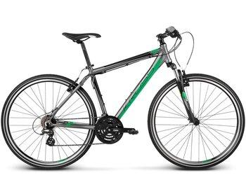 """Kross, Rower Evado 1.0, 21"""", 28"""", grafitowo-zielony mat-Kross"""