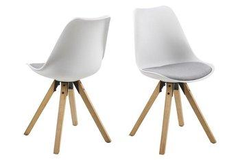 Krzesła ACTONA Dima, biało-szare, 44x42x85 cm, 2 szt.-Actona