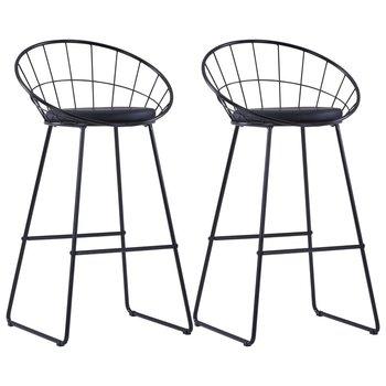 Krzesła barowe VIDAXL, czarne, 2 szt., 54,5x48x98,5 cm-vidaXL