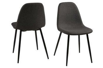 Krzesło ACTONA Wilma, szaro-czarne, 44,5x56x84 cm-Actona