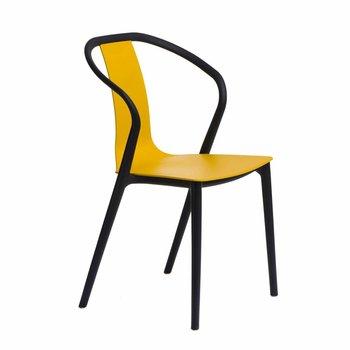 Krzesło D2 DESIGN Bella, żółte, 52x56x88,5 cm-D2.DESIGN