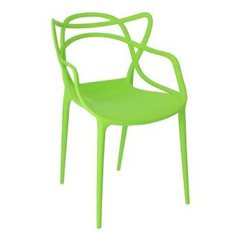 Krzesło D2 DESIGN Lexi, zielone, 40x52x82 cm-D2.DESIGN