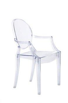 Krzesło D2 DESIGN Royal Ghost, transparentne, 93x54x57 cm-D2.DESIGN