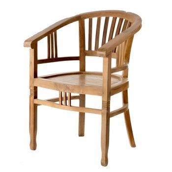 Krzesło DEKORIA Clyton, brązowe, 62x57x85 cm -Dekoria