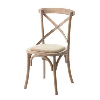 Krzesło DEKORIA Fabio, beżowe, 45x50x90 cm-Dekoria