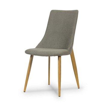 Krzesło HLIVING Elza, szaro-brązowe, 45x60x91 cm