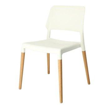 Krzesło INTESI Cole, białe, 51x52x78 cm-Intesi