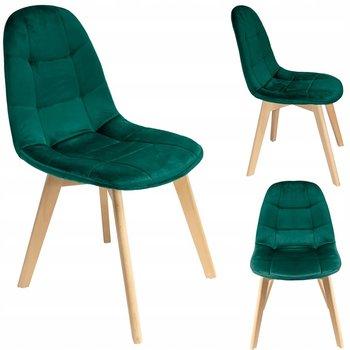 Krzesło JUMI, zielone, 81x43x54 cm-JUMI