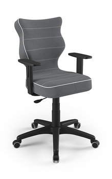 Krzesło obrotowe ENTELO Duo Czarny JS33, ciemny szary, rozmiar 5-ENTELO