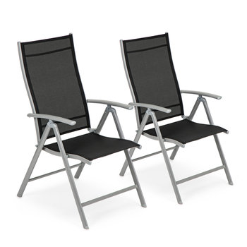 Krzesło ogrodowe regulowane 7 stopniowe oparcie zestaw 2szt-Modernhome