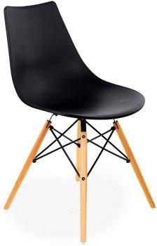 Krzesło Plastikowe Furnide Mindy Czarne 49x48x85 Cm