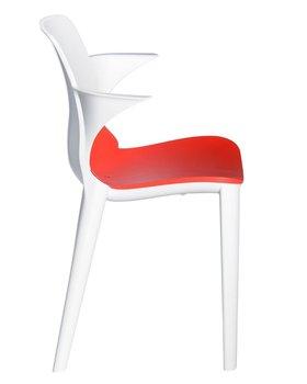 Krzesło RESOL Lyza, biało - czerwone, 80x48x50 cm-Resol