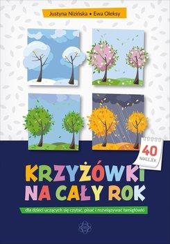 Krzyżówki na cały rok dla dzieci uczących się czytać, pisać i rozwiązywać łamigłówki-Nizińska Justyna, Oleksy Ewa