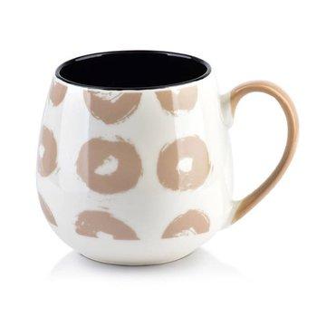 Kubek porcelanowy beczułka Geo Kółka 400 ml-Affek Design