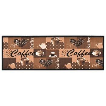 Kuchenna mata podłogowa Coffee, brązowa, 45x150 cm-vidaXL