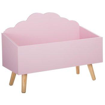 Kufer na zabawki ATMOSPHERA FOR KIDS, różowy, 58x28x45 cm-Atmosphera for kids